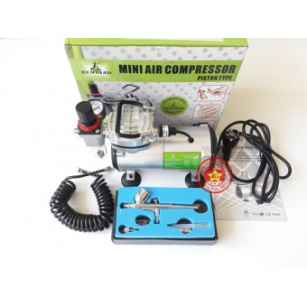 Paket Mini Kompresor Aibrush Kentaro 031 + Airbrush AB130 Einhill